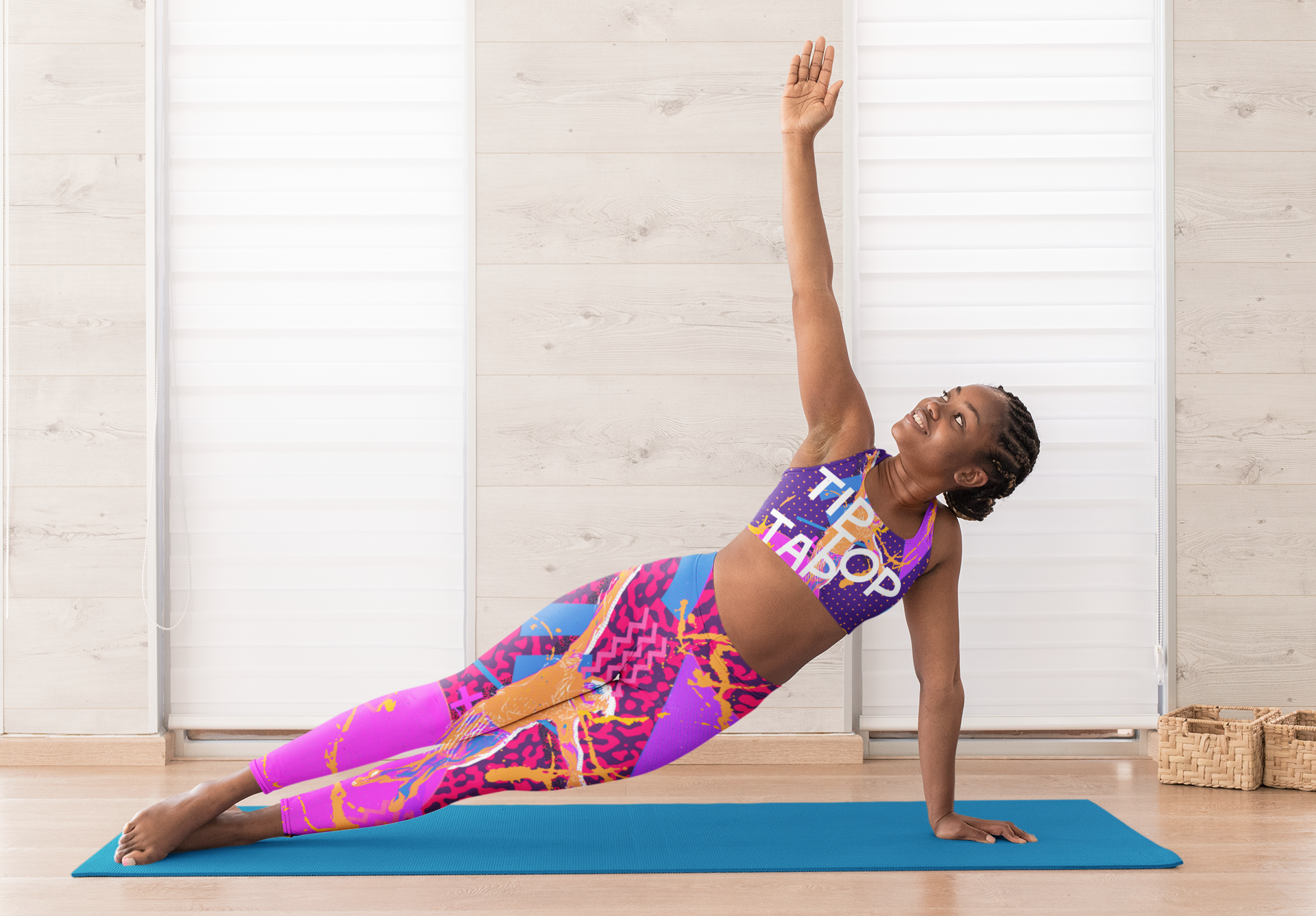 mockup-of-a-woman-doing-yoga-with-a-sports-bra-and-leggings-31096